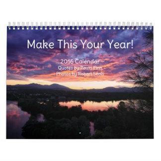 ¡Haga esto su año! calendario inspirado 2016
