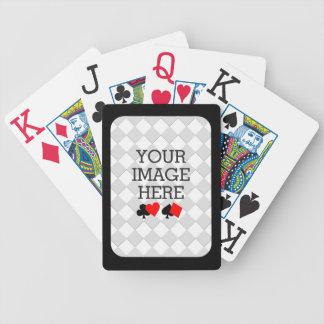 Haga fácilmente su propia cubierta enorme del baraja de cartas bicycle