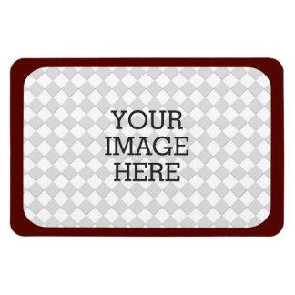 Haga fácilmente su propia exhibición de la foto en imán rectangular