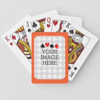 Haga fácilmente sus los propios en un paso en barajas de cartas
