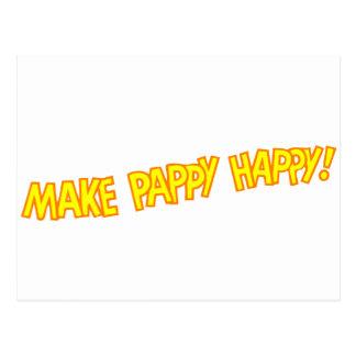 haga feliz pappy tarjetas postales
