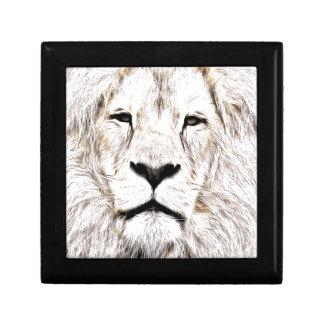 Haga frente a la cara Löwen-Gesicht Face de Lion Cajas De Recuerdo