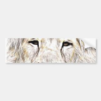 Haga frente a la cara Löwen-Gesicht Face de Lion Pegatina De Parachoque