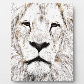 Haga frente a la cara Löwen-Gesicht Face de Lion d Placa