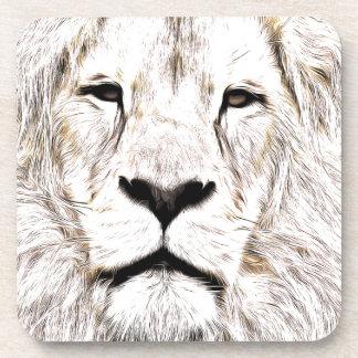 Haga frente a la cara Löwen-Gesicht Face de Lion d Posavasos De Bebidas