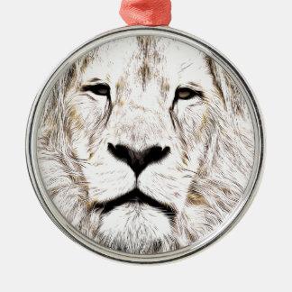 Haga frente a la cara Löwen-Gesicht Face de Lion Ornamento De Navidad