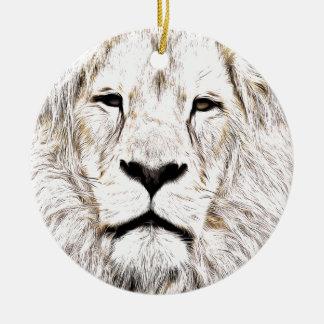 Haga frente a la cara Löwen-Gesicht Face de Lion Ornamento De Reyes Magos