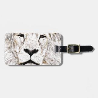 Haga frente a la cara Löwen-Gesicht Face de Lion Etiquetas Para Equipaje