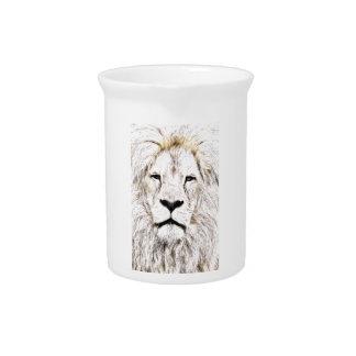 Haga frente a la cara Löwen-Gesicht Face de Lion Jarrón