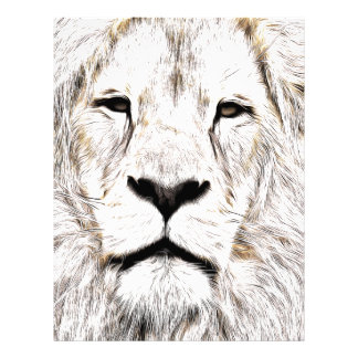 Haga frente a la cara Löwen-Gesicht Face de Lion Membrete