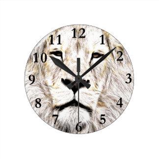 Haga frente a la cara Löwen-Gesicht Face de Lion Reloj De Pared