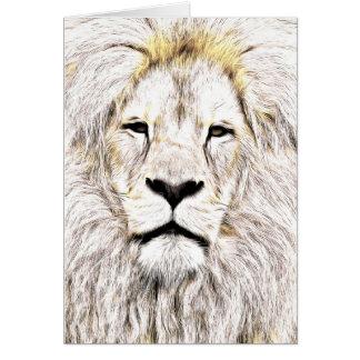 Haga frente a la cara Löwen-Gesicht Face de Lion Tarjeton