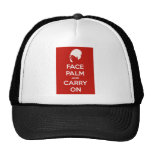 Haga frente a la palma y continúe gorras de camionero