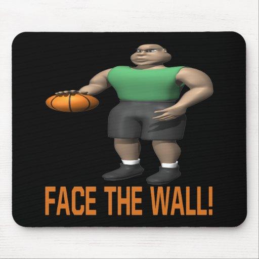 Haga frente a la pared tapetes de raton