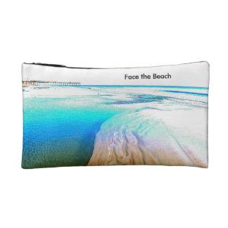 Haga frente al bolso del maquillaje de la playa