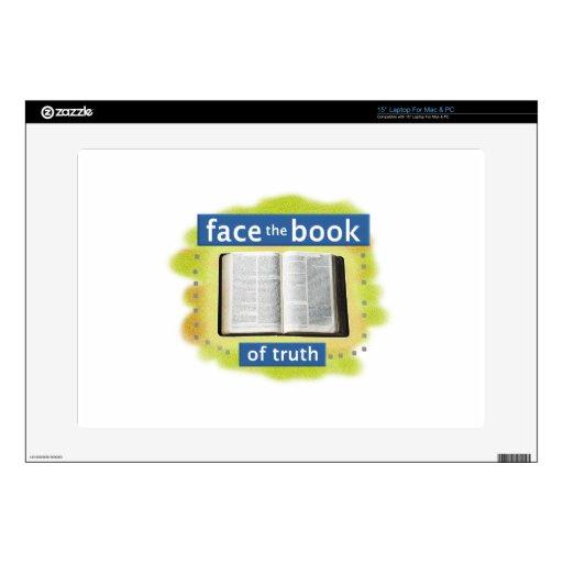 Haga frente al libro (de la verdad) calcomanía para portátil