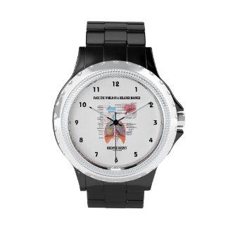 Haga frente al mundo de una manera relajada reloj de mano