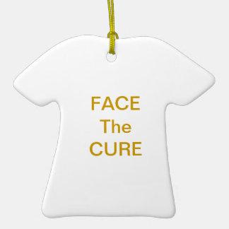Haga frente al oro del ornamento de la curación ornato