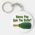 Haga girar la botella llaveros personalizados