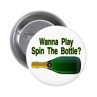Haga girar la botella pins