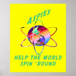 Haga girar los posters del mundo