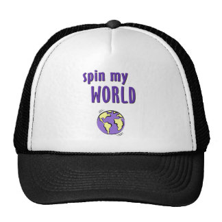 Haga girar mi mundo gorras de camionero