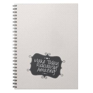 haga hoy ridículo sorprender spiral notebook
