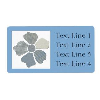 Haga juego cualquier falsa flor del collage de la etiquetas de envío