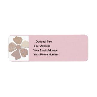 Haga juego cualquier falsa flor del collage de la etiqueta de remitente