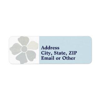 Haga juego cualquier falsa flor del collage de la etiquetas de remite