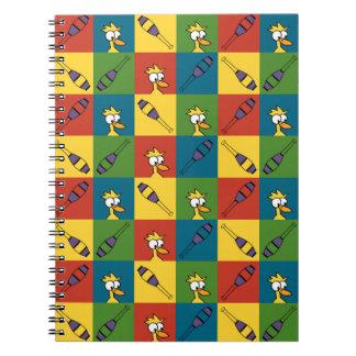 Haga juegos malabares el estallido spiral notebooks