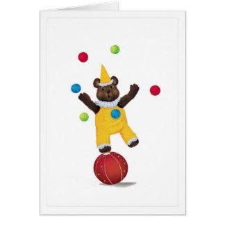 Haga juegos malabares la tarjeta de la enhorabuena