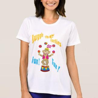 Haga juegos malabares los años 40 camisetas