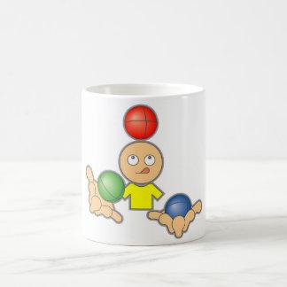 Haga juegos malabares taza básica blanca