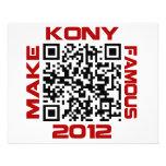 """Haga Kony el código video famoso José Kony de 2012 Folleto 4.5"""" X 5.6"""""""