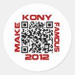 Haga Kony el código video famoso José Kony de 2012 Etiquetas Redondas