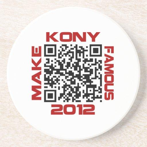 Haga Kony el código video famoso José Kony de 2012 Posavasos Manualidades
