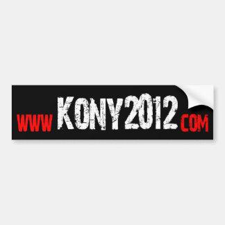 Haga Kony famoso - Kony 2012 Pegatina De Parachoque