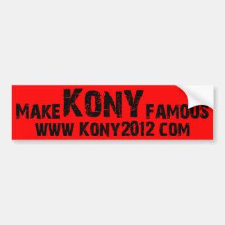 Haga Kony famoso - Kony 2012 Etiqueta De Parachoque