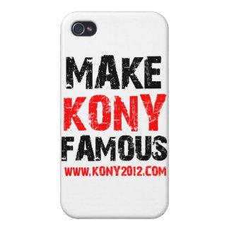Haga Kony famoso - Kony 2012 iPhone 4 Cárcasas