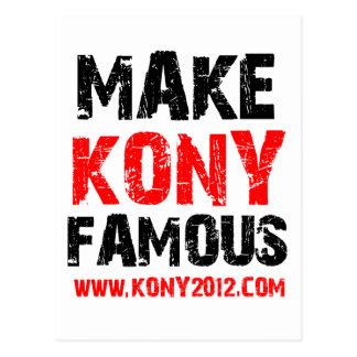 Haga Kony famoso - Kony 2012 Postal