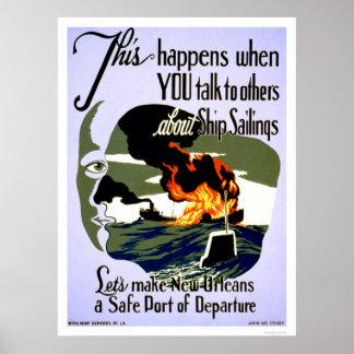 Haga la caja fuerte de New Orleans WPA 1943 Póster