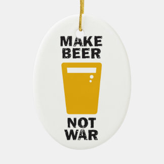 Haga la cerveza, no guerra ornaments para arbol de navidad