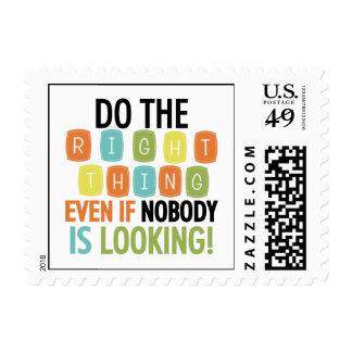 Haga la cosa correcta sello postal