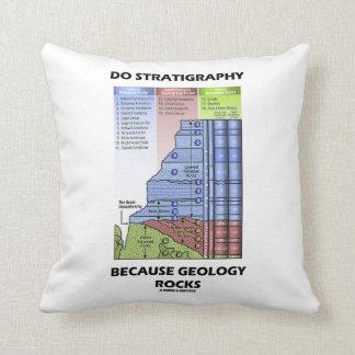 Haga la estratigrafía porque la geología oscila el almohadas