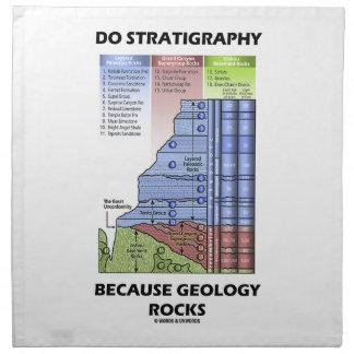 Haga la estratigrafía porque la geología oscila el servilletas imprimidas