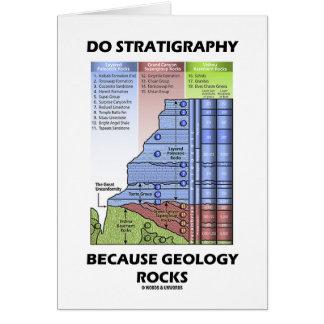 Haga la estratigrafía porque la geología oscila tarjetón