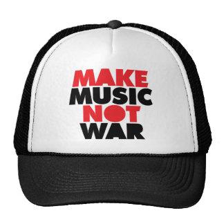 Haga la guerra de la música no gorra