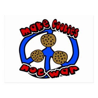 Haga la guerra de las galletas no con símbolo de postal