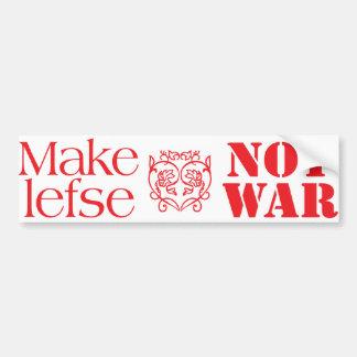 Haga la guerra de Lefse no Pegatina Para Auto